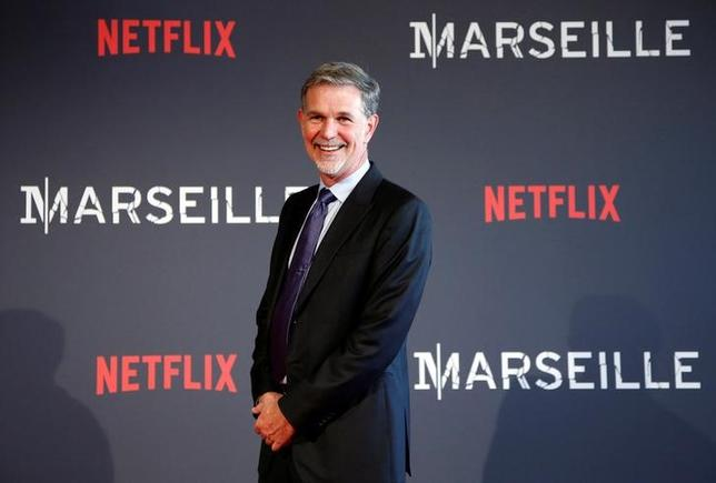 Reed Hastings, co-founder and CEO of Netflix, poses on the red carpet at the French premiere of Netflix's TV series ''Marseille'' in Marseille, France, May 4, 2016. REUTERS/Jean-Paul Pelissier