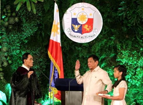 Duterte, 'the punisher', sworn in as Philippines' president
