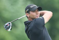 Jul 2, 2016; Akron, OH, USA;  Jason Day of Australia tees off on the sixth hole during the third round of the Bridgestone Invitational at Firestone Country Club - South Course. Mandatory Credit: Charles LeClaire-USA TODAY Sports