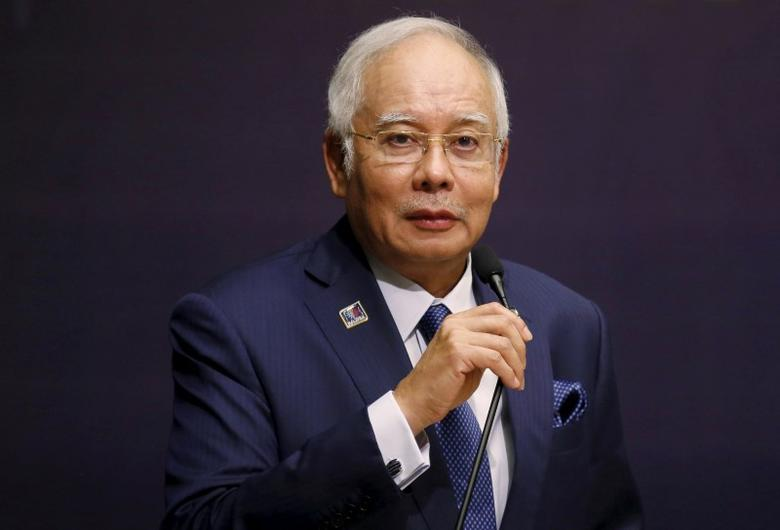 Malaysia's Prime Minister Najib Razak speaks at the opening of the International Conference on Deradicalisation and Countering Violent Extremism in Kuala Lumpur, Malaysia, January 25, 2016. REUTERS/Olivia Harris/File Photo