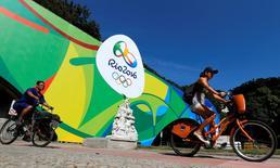 Cartaz dos Jogos Rio 2016 na cidade do Rio. 04/07/2016 REUTERS/Sergio Moraes