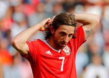 Joe Allen durante partida contra Irlanda do Norte na Euro 2016.     REUTERS/Stephane Mahe