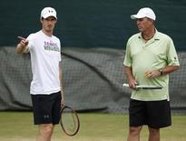 Britain Tennis - Wimbledon - All England Lawn Tennis & Croquet Club, Wimbledon, England - 3/7/16 Great Britain's Andy Murray with his coach Ivan Lendl during a practice session REUTERS/Paul Childs