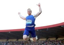 Britain Athletics - Birmingham Diamond League - Alexander Stadium, Birmingham - 5/6/16 Great Britain's Greg Rutherford in action during the long jump Action Images via Reuters / Matthew Childs Livepic