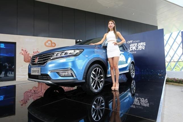 A view of the launch event of Alibaba's internet-connected car in Hangzhou, Zhejiang province, China, July 6, 2016. China Daily/via REUTERS