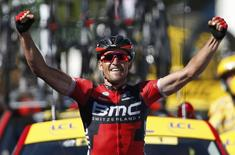 Cycling - Tour de France cycling race - The 216 km (134 miles) Stage 5 from Limoges to Le Lioran, France - 06/07/2016 - BMC Racing team rider Greg Van Avermaet of Belgium wins on the finish line.    REUTERS/Juan Medina