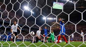 Football Soccer - Germany v France - EURO 2016 - Semi Final - Stade Velodrome, Marseille, France - 7/7/16 France's Antoine Griezmann celebrates after scoring their second goal   REUTERS/Darren Staples Livepic