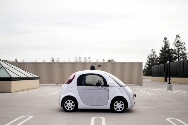 A prototype of Google's own self-driving vehicle is seen during a media preview of Google's current autonomous vehicles in Mountain View, California.  REUTERS/Elijah Nouvelage