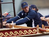 Remador britânico Steve Redgrave, dono de cinco medalhas de ouro.     03/06/2012       REUTERS/Darren Staples