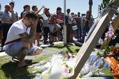Homenagem às vítimas de ataque na cidade francesa de Nice.   15/07/2016        REUTERS/Pascal Rossignol