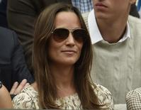 Pippa Middleton on Centre Court at the Wimbledon Tennis Championships in London, July 12, 2015.   REUTERS/Toby Melville