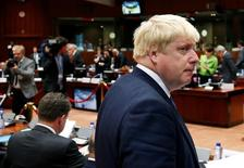 Министр иностранных дел Великобритании Борис Джонсон на встрече глав МИД стран ЕС в Брюсселе. 18 июля 2016 года. Апологет выхода Великобритании из ЕС Борис Джонсон, возглавивший МИД в ходе смены кабинета, повторил риторику своего предшественника, призвав Россию отказаться от поддержки сирийского лидера Башара Асада. REUTERS/Francois Lenoir