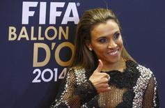 Marta na cerimônia de entrega da Bola de Ouro 2014, em Zurique  12/1/2015  REUTERS/Arnd Wiegmann