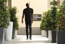 Britain Athletics - London Anniversary Games Preview Press Conference - Grange Tower Bridge Hotel, London - 21/7/16 Jamaica's Usain Bolt poses before the press conference Action Images via Reuters / Andrew Couldridge Livepic