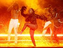 "Beyonce performs ""Freedom"" at the 2016 BET Awards in Los Angeles, California U.S. June 26, 2016.  REUTERS/Danny Moloshok"