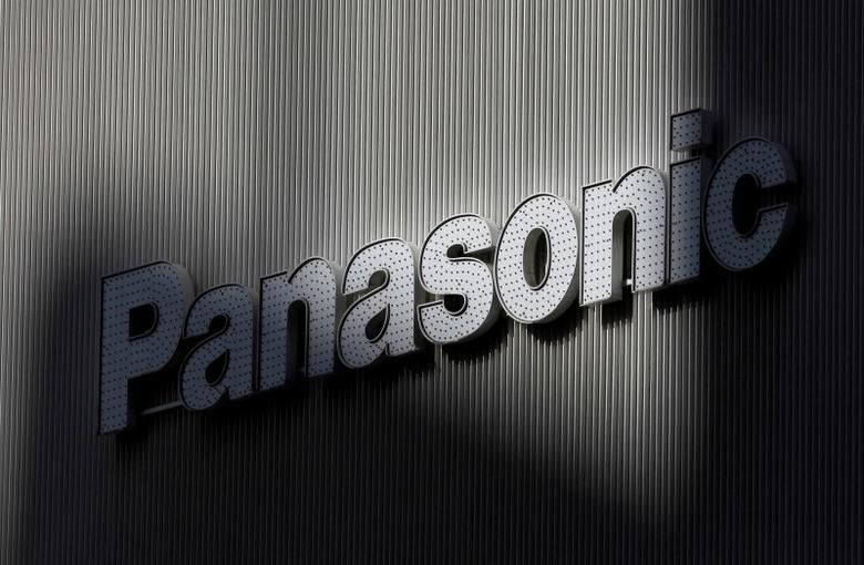 Panasonic's logo is seen on a wall of an electronic shop in Tokyo February 3, 2012.   REUTERS/Kim Kyung-Hoon/File Photo