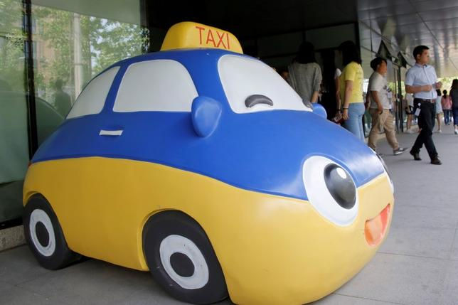 A mascot of Didi Chuxing is seen at the company's headquarters in Beijing, China, May 18, 2016. REUTERS/Kim Kyung-Hoon