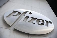 Pfizer a annoncé mardi une progression d'environ 11% de son chiffre d'affaires au deuxième trimestre, grâce à la demande pour certains de ses médicaments plus récents et à l'acquisition l'an dernier du fabricant de produits hospitaliers Hospira. /Photo d'archives/REUTERS/Andrew Kelly