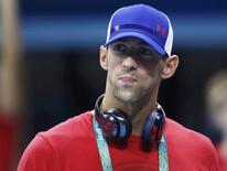Nadador Michael Phelps no Parque Olímpico, no Rio de Janeiro.    02/08/2016            REUTERS/Stefan Wermuth