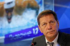 Russian Olympic Committee (ROC) chief Alexander Zhukov attends a news conference ahead of Russian Olympic team departure to Rio 2016 Olympic Games in Moscow, Russia, July 26, 2016.  REUTERS/Maxim Shemetov