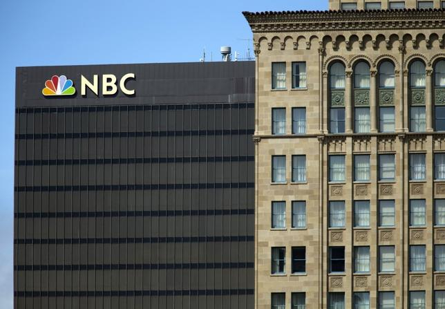The NBC logo is pictured atop their office building in San Diego, California  September 1, 2015. REUTERS/Mike Blake