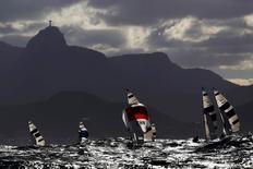 Regata da classe 470 na Baía de Guanabara. 11/08/2016 REUTERS/Brian Snyder