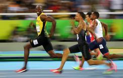 Jamaicano Usain Bolt durante semifinal dos 100m na Rio 2016.   15/08/2016         REUTERS/Kai Pfaffenbach