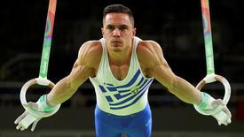 2016 Rio Olympics - Artistic Gymnastics - Final - Men's Rings Final - Rio Olympic Arena - Rio de Janeiro, Brazil - 15/08/2016. Eleftherios Petrounias (GRE) of Greece competes.  REUTERS/Mike Blake