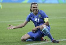 Marta em jogo contra a Austrália.  12/08/2016.   REUTERS/Mariana Bazo