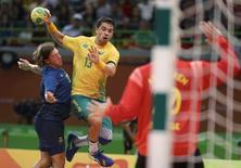 Mattias Zachrisson, da Suécia, e brasileiro Diogo Hubner  15/08/2016 REUTERS/Damir Sagolj