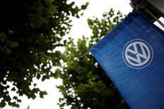 A Volkswagen's logo is seen at a dealership in Seoul, South Korea, August 2, 2016.  REUTERS/Kim Hong-Ji - RTSKMRL