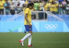 Marta após derrota do Brasil para o Canadá. 19/08/2016 REUTERS/Paulo Whitaker