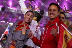 2016 Rio Olympics - Closing ceremony - Maracana - Rio de Janeiro, Brazil - 21/08/2016.   Athletes take part in the closing ceremony.   REUTERS/Stoyan Nenov