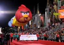 Balões com personagens do Angry Birds vistos em Los Angeles.    01/12/2013             REUTERS/Gus Ruelas/Files