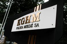 KGHM's logo is seen in front of its headquarters in Lubin, southern-western Poland, in this July 29, 2011 file picture. REUTERS/Kacper Pempel