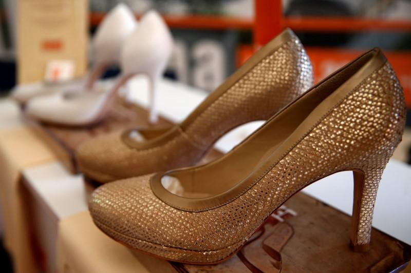 Shoes made for U.S. Republican presidential candidate Donald Trump's wife  Melania are seen in shoe factory Bema in Banja Luka, Bosnia and  Herzegovina, ...