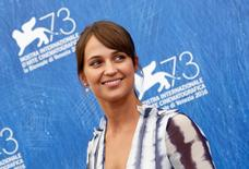 """Actress Alicia Vikander attends the photocall for the movie """"The Light Between Oceans"""" at the 73rd Venice Film Festival in Venice, Italy September 1, 2016. REUTERS/Alessandro Bianchi"""