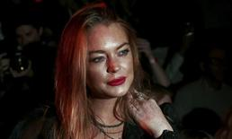 Lindsay Lohan na Fashion Week em Londres. 19/9/2015. REUTERS/Suzanne Plunkett