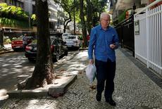 Former top European member of the International Olympic Committee (IOC), Patrick Hickey, arrives at a residential building after leaving the Bangu Jails Complex in Rio de Janeiro, Brazil, August 30, 2016. REUTERS/Ricardo Moraes
