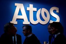 Atos a annoncé lundi un accord de rachat d'actions pour acquérir Anthelio Healthcare Solutions (Anthelio), spécialiste américain des solutions technologiques dans le domaine de la santé, pour une valeur d'entreprise de 275 millions de dollars. /Photo d'archives/REUTERS/Philippe Wojazer