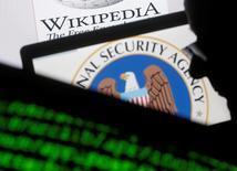 Logo da Agência de Segurança Nacional dos EUA (NSA) visto em fotografia ilustrativa.   11/03/2015          REUTERS/Dado Ruvic