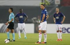 Jogadores do Manchester United em derrota para o Feyenoord. 15/9/16. Action Images via Reuters / Matthew Childs