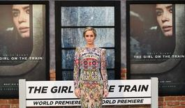 "Emily Blunt poses as she arrives at the World premiere of ""The Girl on the Train"" at Leicester Square in London, Britain September 20, 2016. REUTERS/Dylan Martinez"