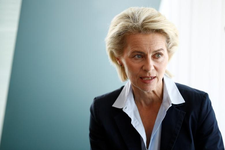 Germany's Defence Minister Ursula von der Leyen attends a cabinet meeting at the Chancellery in Berlin, Germany, June 8, 2016. REUTERS/Axel Schmidt