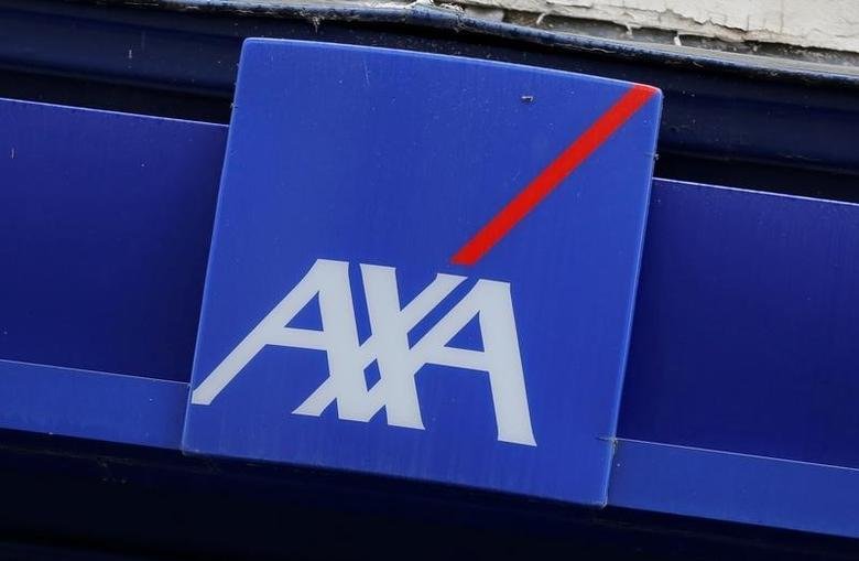 Logo of France's biggest insurer Axa is seen in Paris, France, August 4, 2016. REUTERS/Jacky Naegelen