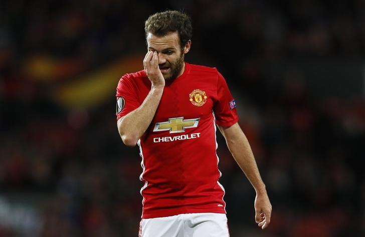 Britain Soccer Football - Manchester United v FC Zorya Luhansk - UEFA Europa League Group Stage - Group A - Old Trafford, Manchester, England - 29/9/16Manchester United's Juan Mata	 Action Images via Reuters / Jason CairnduffLivepic