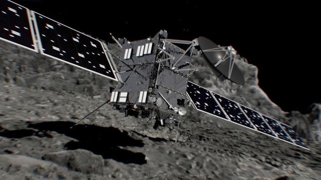 9月30日、欧州宇宙機関(ESA)が2004年3月に打ち上げた無人の彗星探査機「ロゼッタ」が彗星に衝突し、12年半の任務を終了した。写真はESA提供のイメージ図(2016年 ロイター)