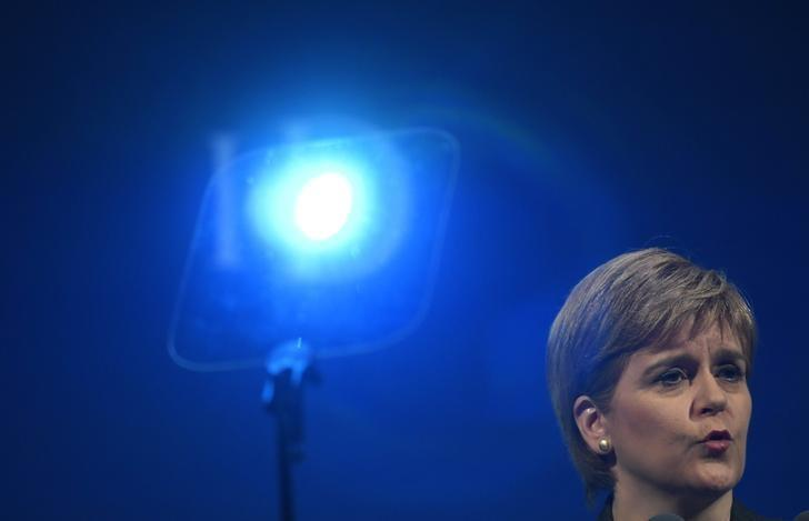 Scotland's first Minister Nicola Sturgeon speaks at the Institute of Directors convention in London, Britain, September 27, 2016. REUTERS/Toby Melville