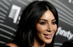 FILE PHOTO - Kim Kardashian West participates in a television interview as she arrives for the 20th Annual Webby Awards in Manhattan, New York, U.S., May 16, 2016. REUTERS/Mike Segar/File Photo