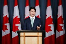 Canada's Prime Minister Justin Trudeau speaks during a news conference in Ottawa, Ontario, Canada, September 21, 2016. REUTERS/Chris Wattie